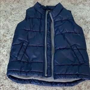 Fleece lined puffer vest